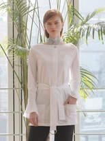 Wardrobe Belted Long Blouse_white