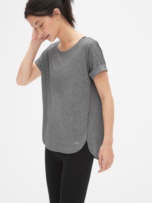 Gap GapFit Breathe Roll Sleeve T-Shirt