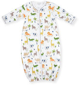 Kissy Kissy Jungle Jaunt Convertible Pima Sleep Gown, Navy/White, Size Newborn-Small