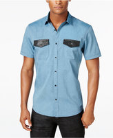 INC International Concepts Men's Osric Multi-Pocket Short-Sleeve Shirt, Only at Macy's