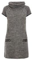 Dorothy Perkins Womens Quiz Grey Cowl Neck Short Sleeve Shift Dress, Grey