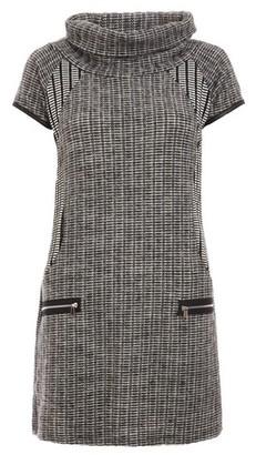 Dorothy Perkins Womens *Quiz Grey Cowl Neck Short Sleeve Shift Dress, Grey