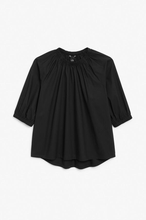Thumbnail for your product : Monki Elastic neck cotton top
