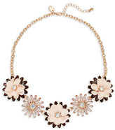 Expression Sequin and Faceted Stone Flower Necklace