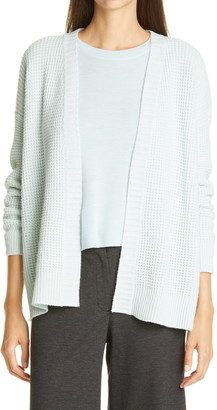 Eileen Fisher Recycled Cashmere & Wool Thermal Knit Cardigan