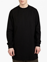 Rick Owens Black Baseball Sweatshirt