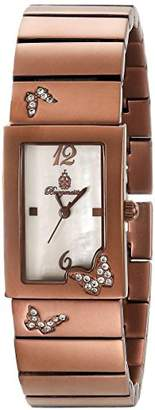 Burgmeister Perpignon Women's Quartz Watch with Mother of Pearl Dial Analogue Display and Brown Bracelet BM527-485