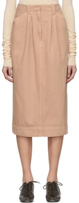 Lemaire SSENSE Exclusive Pink Denim Baggy Skirt