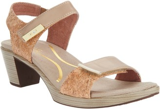 Naot Footwear Leather Ankle Strap Block Heeled Sandals - Intact