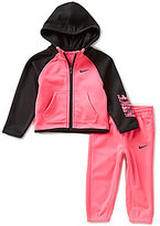 Nike Baby Girls 12-24 Months Therma-FIT Fleece Track Jacket and Pants Set