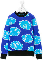 10X10 An Italian Theory Kids - cloud print sweatshirt - kids - Cotton - 2 yrs