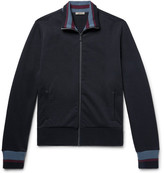 Bottega Veneta Striped Loopback Cotton-jersey Track Jacket - Black