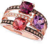 LeVian Le Vian Multistone and Diamond Ring in 14k Rose Gold (3/8 ct. t.w.)