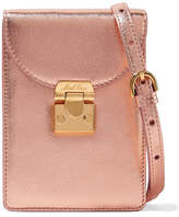 Mark Cross Josephine Metallic Textured-leather Shoulder Bag - Pink