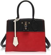Hynes Victory Color Stitching Satchel Handbags