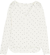 Maje Broderie anglaise voile shirt