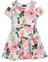 Ally B Girls 7-16 Girls Floral Dress and Necklace Set