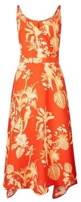Dorothy Perkins Womens Tall Orange Parrot Print Camisole Dress, Orange