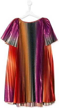 Givenchy Kids Pleated Ombre Dress