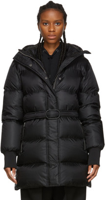 Kenzo Black Down Belted Puffer Jacket