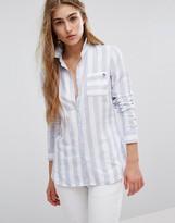 Tommy Hilfiger Wide Stripe Oxford Shirt