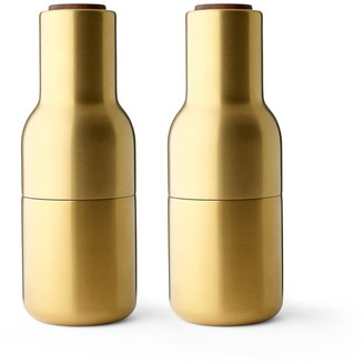 Menu Bottle Grinder Brushed Brass Walnut Lid - brass | brass | Brushed Brass - Brass