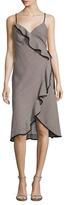 ABS by Allen Schwartz Striped Wrap Dress