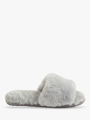 Just Sheepskin Lily Slider Slippers, Grey