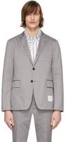 Thom Browne Grey Unconstructed Classic Blazer
