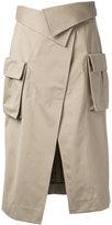 Monse - front split skirt - women - Cotton - 2