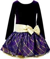 Bonnie Jean Big Girls' Velvet To Taffeta Dress