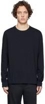 Joseph Navy Mercerized Long Sleeve T-Shirt