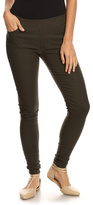 Olive Mid-Rise Jeggings