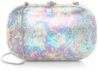 Jeffrey Levinson Elina Plus Iridescent Gloss Clutch