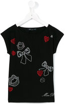 Miss Blumarine bejewelled T-shirt - kids - Cotton/Spandex/Elastane - 4 yrs