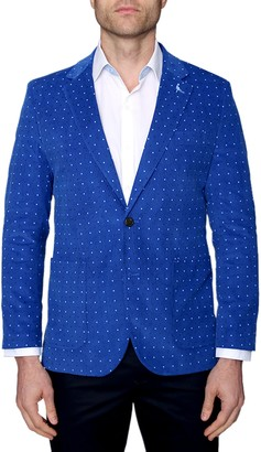 Tailorbyrd Dot Corduroy Two Button Notch Lapel Modern Fit Sport Coat