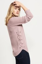 Dynamite Turtle Neck Sweater With Lace Up