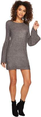 Kensie Women's Warm Touch Sweater Dress with Bell Sleeve