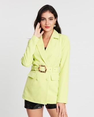 Missguided Mock Tortoiseshell Belted Jacket