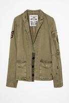 Zadig & Voltaire Virginia Grunge Military Jacket