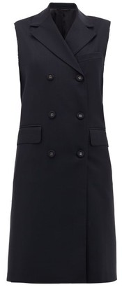 Officine Generale Andre Double-breasted Sleeveless Wool Jacket - Navy