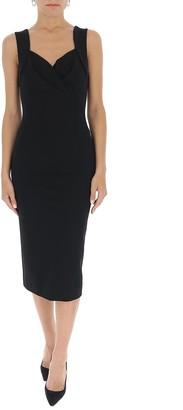 Dolce & Gabbana Sweetheart Neckline Midi Dress