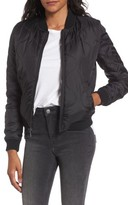 French Connection Women's Cropped Quilted Bomber Jacket