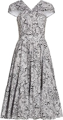 Alexander McQueen Print Cotton Halter Dress