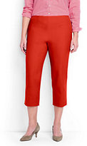 Lands' End Women's Plus Size Mid Rise Bi-Stretch Capri Pants-Sweet Persimmon