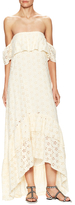Winston White Sol Embroidered Eyelet High Low Dress