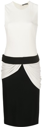 Alexander McQueen Draped-Detail Fitted Dress