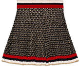 Gucci Lurex blend skirt with Web