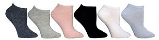 Steve Madden Ladies 6PK Solid and Marled Low Cut Socks