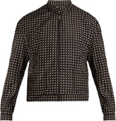 Wooyoungmi Square-print bomber jacket